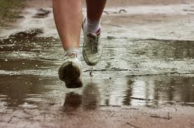 trainers in rain